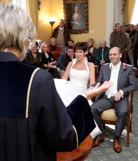 Aankomst bruidspaar Goudestein