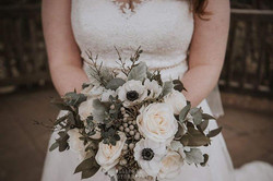 White & Grey Bridal Bouquet