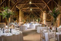 Beautiful Barn Wedding Reception Flowers