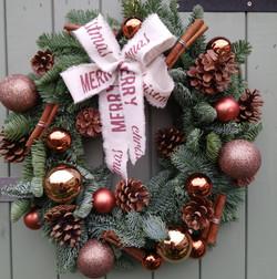 Rustic, copper Wreath