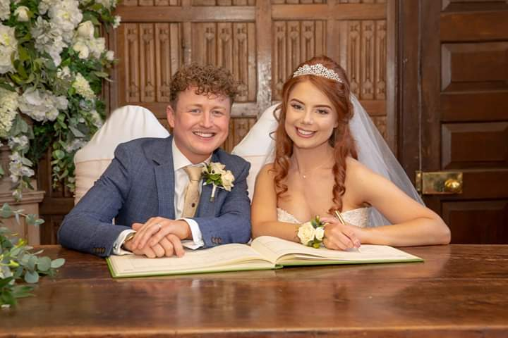 Bride and Groom at Gosfield Hall