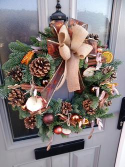 Luxury, fresh door wreath