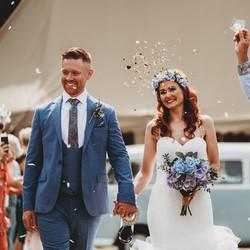 Real Wedding Confetti Shot
