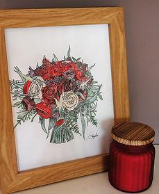 Illustration Bridal Bouquet