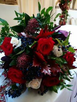 Stunning Winter Bridal Bouquet