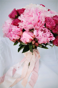 Bridal Bouquet of Peonies & Roses