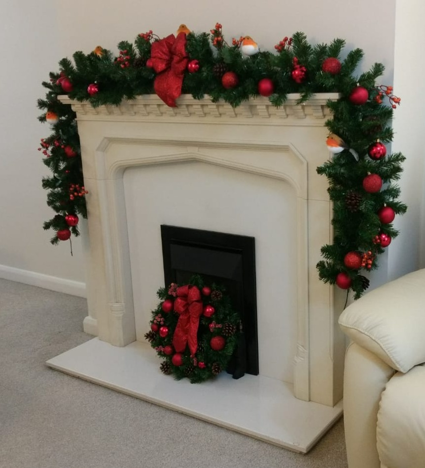 Fireplace Garland and Wreath