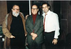 With Ennio Morricone & Sergio Leone