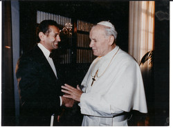 At the Vatican with Pope John Paul II