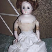 "20"" Bisque Shoulder Head Doll- Unknown Maker"
