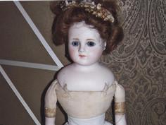 """20"""" Bisque Shoulder Head Doll- Unknown Maker"""