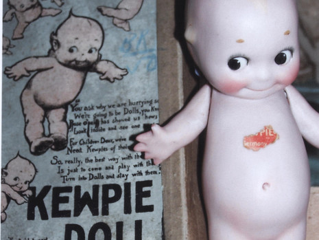 """6"""" Bisque Kewpie Doll- Kimport Doll Co"""