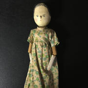 "12"" Wooden Peg Doll- Unknown Maker"