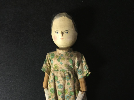 Wooden Peg Doll-Maker Unknown