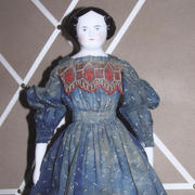 """17"""" China Head Doll- Unknown Maker"""