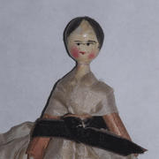 "4"" Wooden Peg Doll- Unknown Maker"
