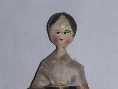 """4"""" Wooden Peg Doll- Unknown Maker  n"""