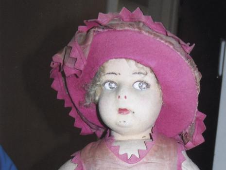 """18"""" Felt Doll- Possibly Lenci"""
