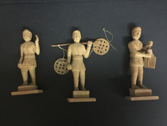 Asian Wooden Figurines- Unknown Maker
