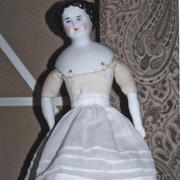 "11"" Flat-Top China Head Doll-  Unknown Maker"