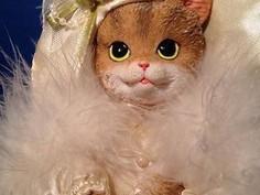 Victorian Boudoir Cat Doll by Avon