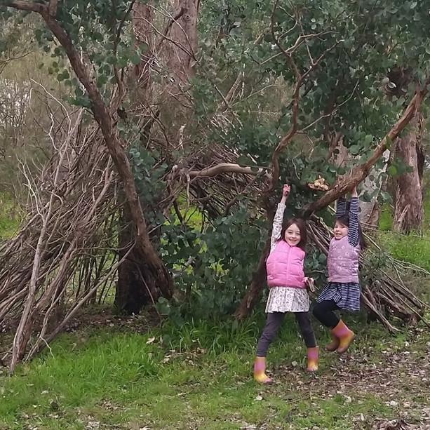 Creating a hut for Bush School