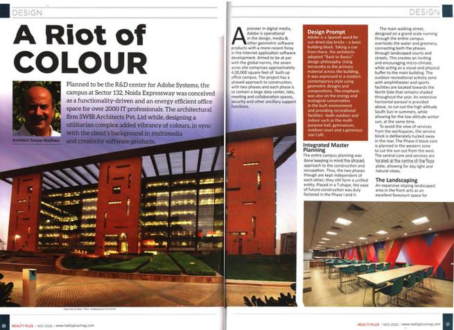 Realty Plus Magazine, Adobe Campus, November 2016