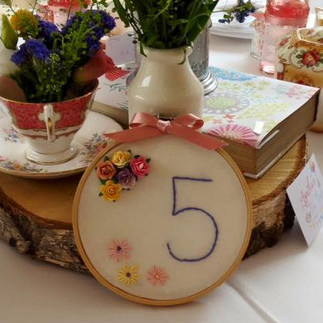 Table Numbers (Embroidered)