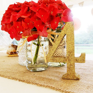 Table Numbers (Gold)