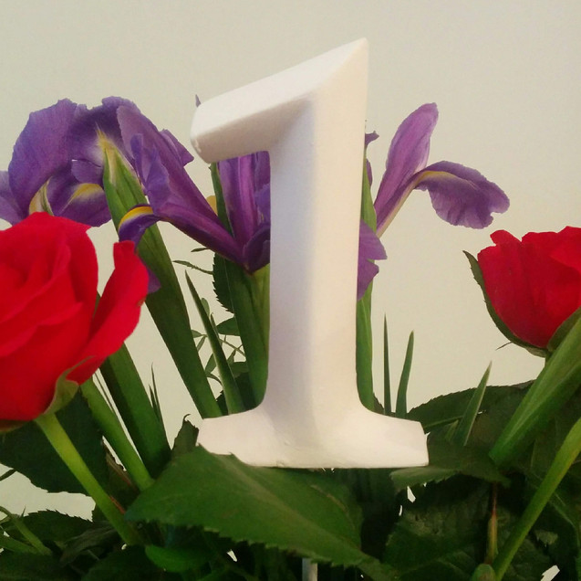 Table Numbers (White)