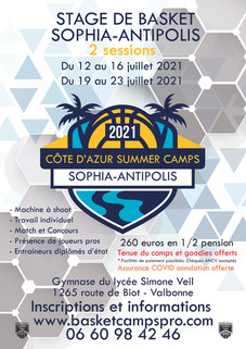 SOPHIA SUMMER CAMPS 2021