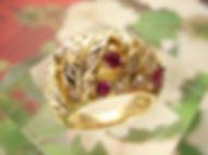 K18ゴールド ルビーダイヤモンドドリング.3.JPG