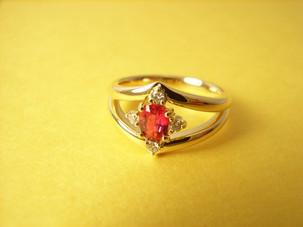 K18ルビー/ダイヤモンドリング