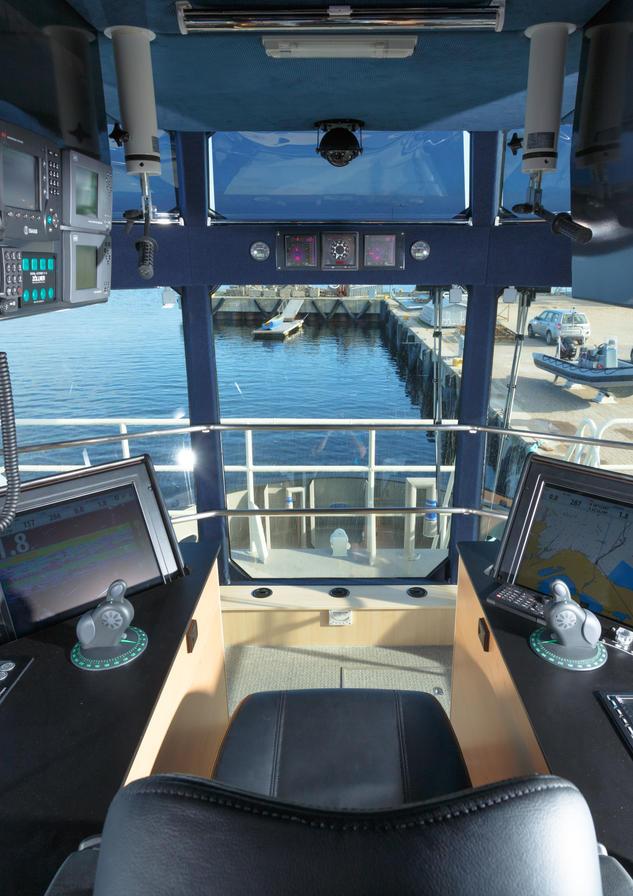 Tug boat bridge