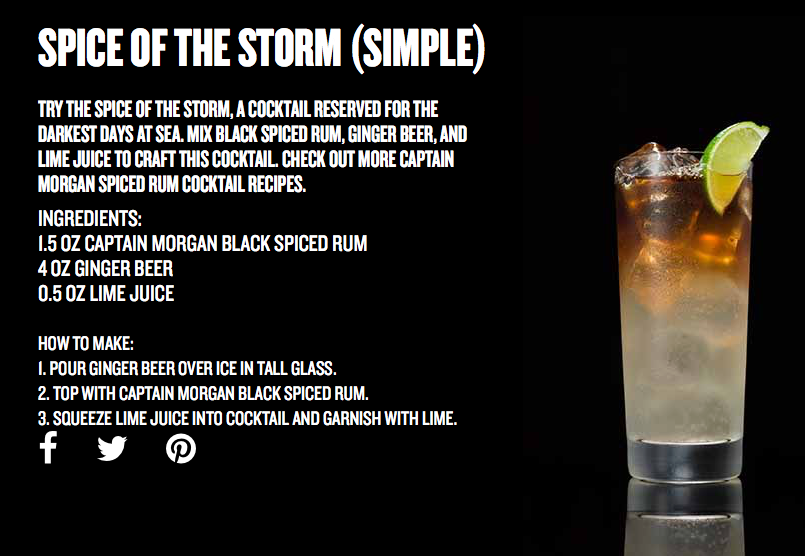 Spice of the Storm Cocktail