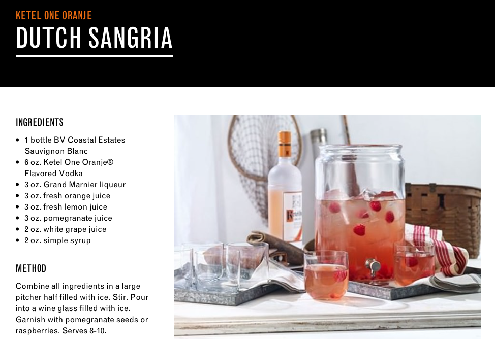 Dutch Sangria Cocktail