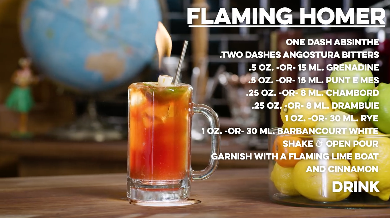 Flaming Homer Cocktail