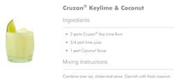 Cruzan Keylime and Coconut Cocktail