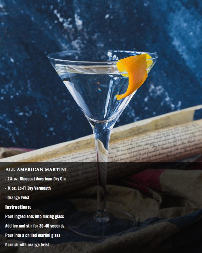 All American Martini Cocktail
