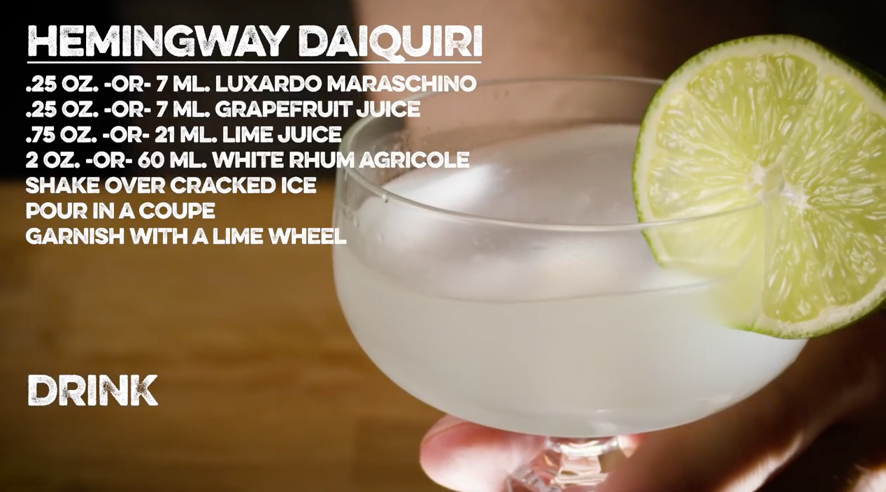 Hemingway Daiquiri Cocktail