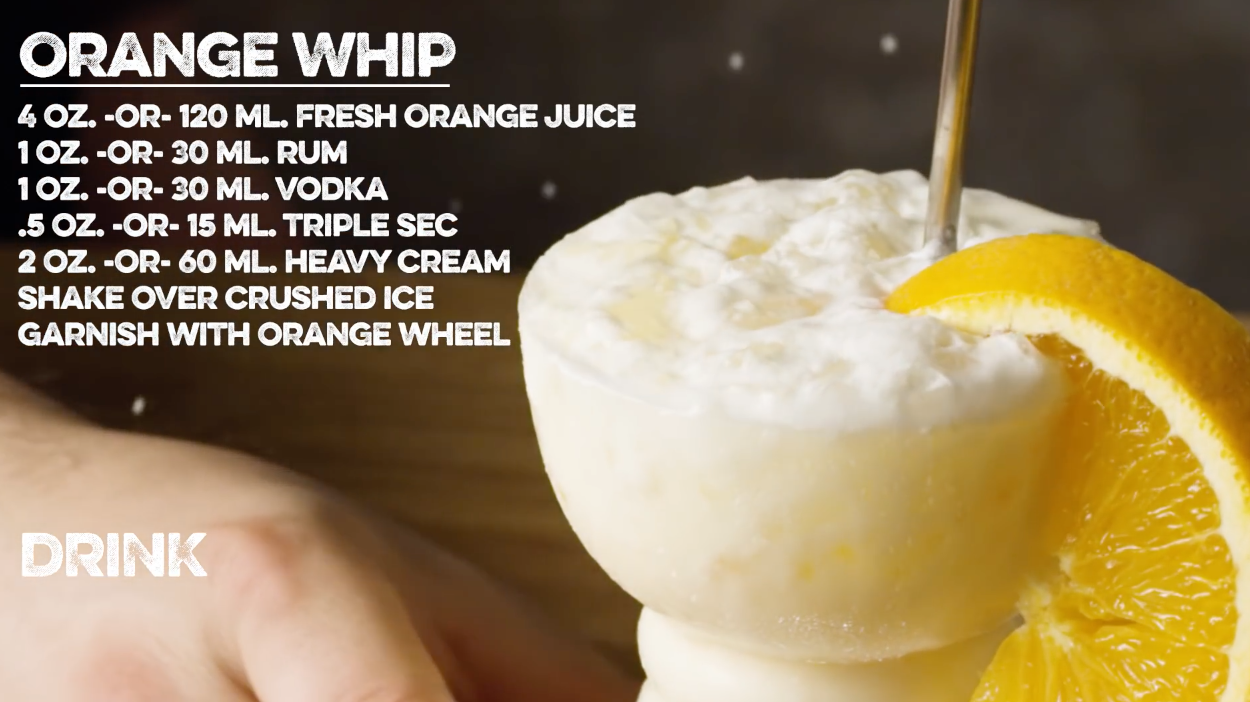 Orange Whip Cocktail