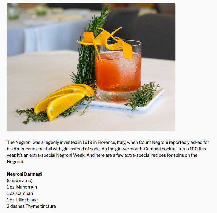 Negroni Darmagi Cocktail