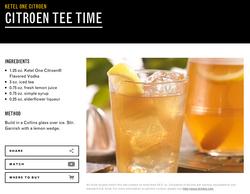 Citroen Tropical Heat Cocktail
