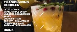 Thanksgiving Cobbler Cocktail