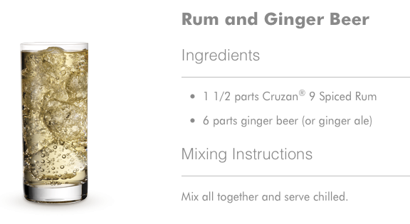 Rum and Ginger Beer Cocktail