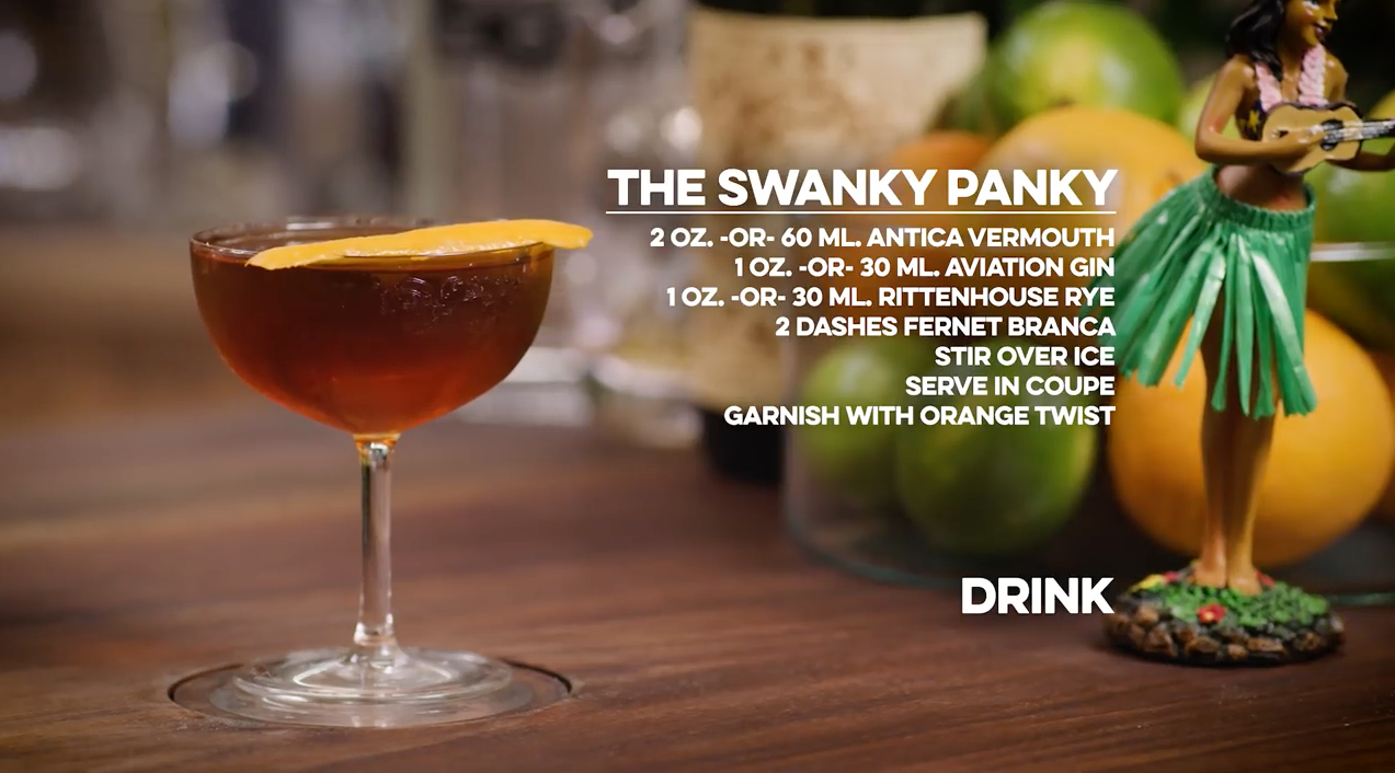 The Swanky Panky Cocktail