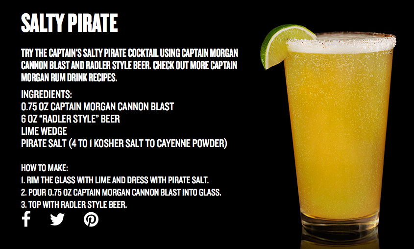 Salty Pirate Cocktail