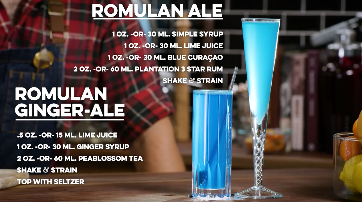 Romulan and Romulan Ginger-Ale Cocktail