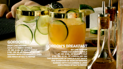 Gordon's Cup and Gordon's Breakfast Cocktails