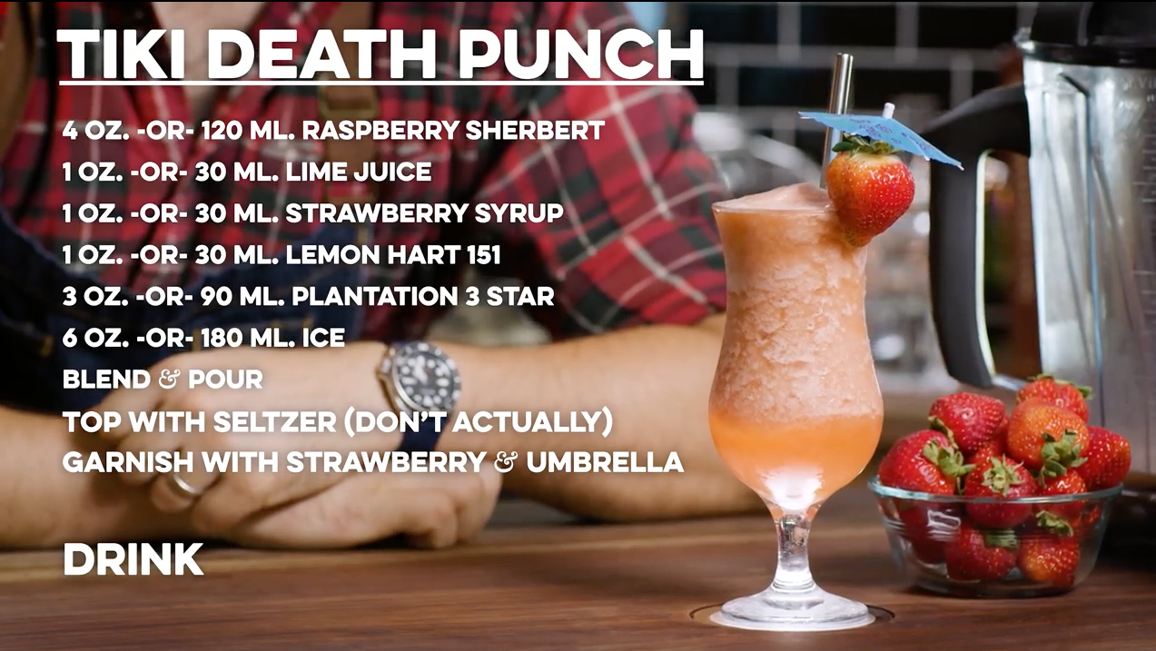 Tiki Death Punch Cocktail